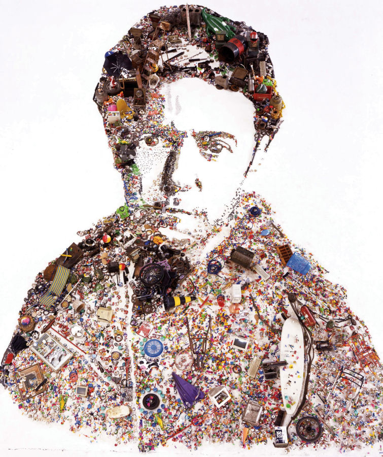 Vik Muniz, Khyber Pass, Self-Portrait as an Oriental, After Remb